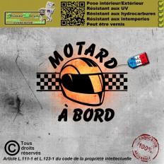 Stickers autocollant Motard à bord 6
