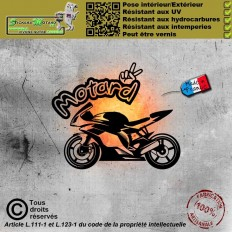 Stickers autocollant motard...