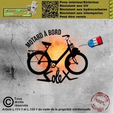 Stickers autocollant Motard à bord 10
