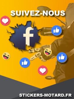 Suivez-Nous sur Facebook Stickers-Motard.fr